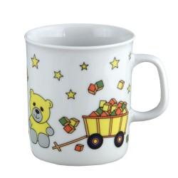 art de la table, set en porcelaine pour enfant, mug 0,22 l Souvenirs d'enfance, motif voiture nounours