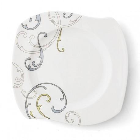 Assiette plate 31 cm Myosotis en porcelaine