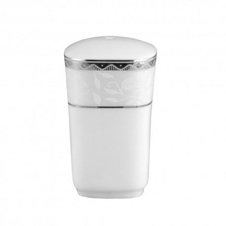 art de la table, service de table complet, vaisselle en porcelaine, poivrier Bosquet Argenté en porcelaine