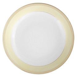 art de la table, service de table complet, vaisselle en porcelaine, assiette calotte 22 cm Elegance en porcelaine