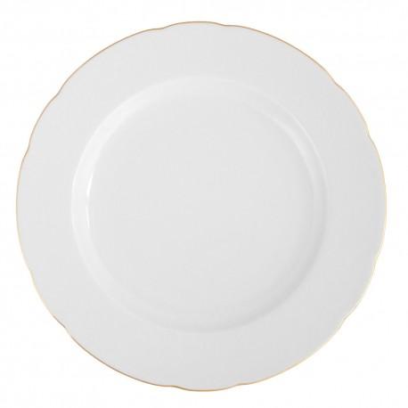 Plat rond à aile 32 cm en porcelaine Gracieuse Innocence, plat rond en porcelaine, vaisselle en porcelaine