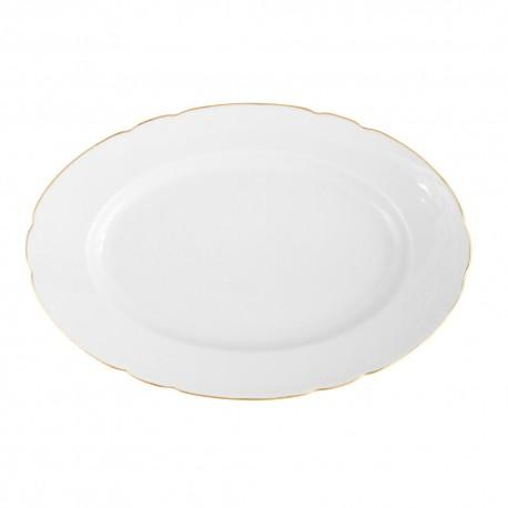 Plat ovale 36 cm en porcelaine Gracieuse Innocence