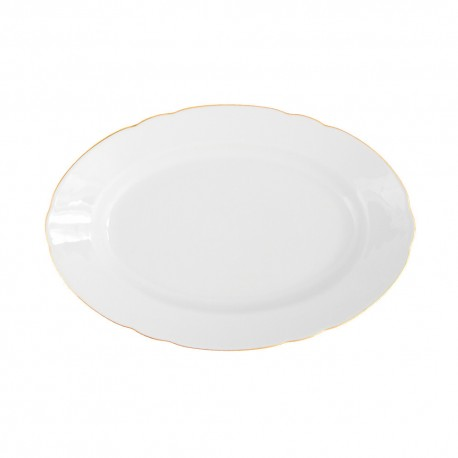 Plat ovale 28 cm en porcelaine Gracieuse Innocence