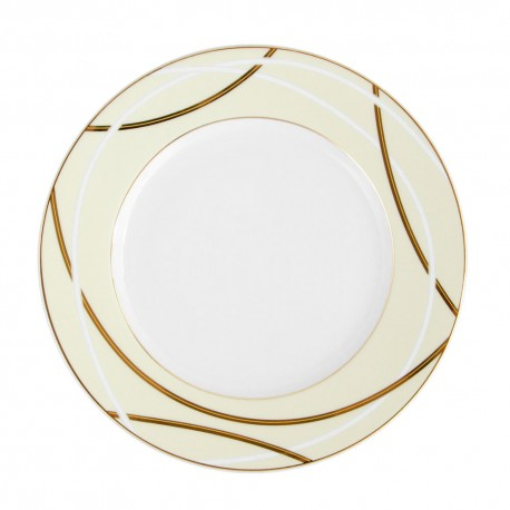 Assiette à aile plate ronde 20 cm Ornelia en porcelaine