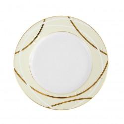 Assiette à aile plate ronde 18 cm Ornelia en porcelaine