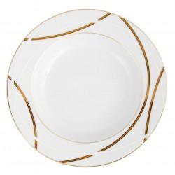 Assiette à aile creuse ronde 22 cm Ornelia en porcelaine