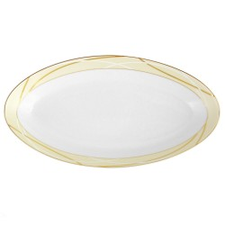 Plat ovale 33 cm Ornelia en porcelaine