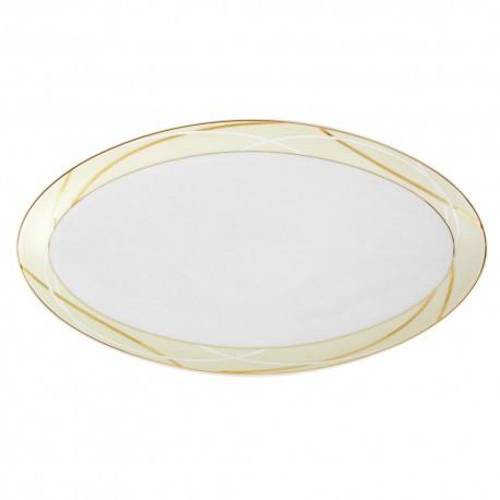 Plat ovale 35 cm Ornelia en porcelaine