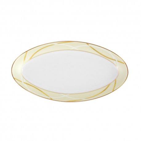 Ravier ovale 23 cm Ornelia en porcelaine, petit plat ravier