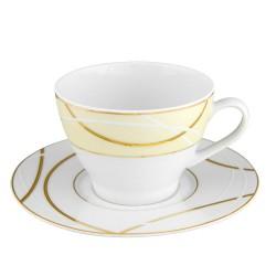 Tasse à thé 280 ml avec soucoupe 16 cm Ornelia? en porcelaine