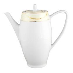 Théière 1100 ml avec couvercle Ornelia?? en porcelaine, service à thé, petit déjeuner porcelaine