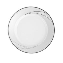 Assiette plate ronde à aile 17 cm Cristal Eternel en porcelaine