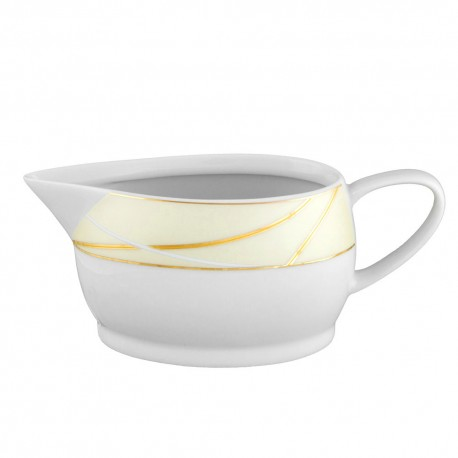 Saucière 500 ml Ornelia? en porcelaine, sauce, porcelaine, présentation, art de la table