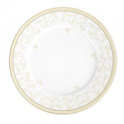 Assiette plate ronde à aile 27 cm Douce Nostalgie en porcelaine