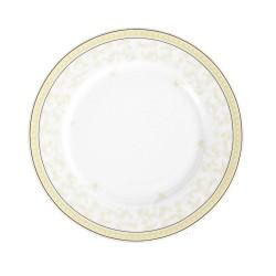 Assiette plate ronde à aile 21 cm Douce Nostalgie en porcelaine