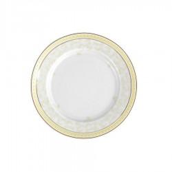 Assiette plate ronde à aile 17 cm Douce Nostalgie en porcelaine