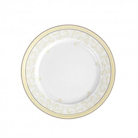 Assiette plate ronde à aile 19 cm Douce Nostalgie en porcelaine