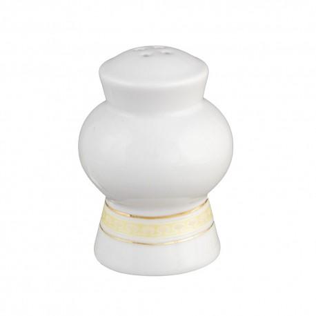 Salière Douce Nostalgie en porcelaine, élégante salière luxe, or, galon, art de la table