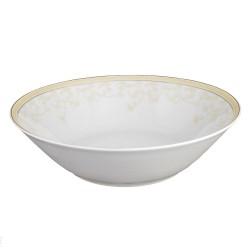Saladier rond 26 cm porcelaine Douce Nostalgie, saladier rond or, décoration luxe doré, art de la table