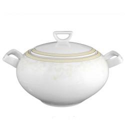 Soupière 2.7 l avec couvercle en porcelaine Douce Nostalgie, soupière luxe or
