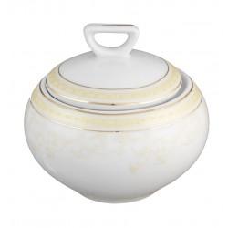 Sucrier 250 ml en porcelaine Douce Nostalgie, sucrier élégant or
