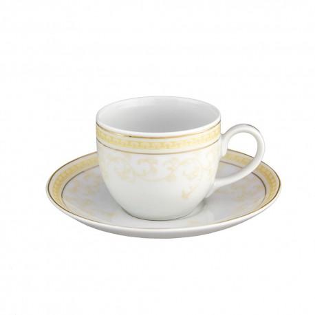 Tasse à café 100 ml avec soucoupe en porcelaine Douce Nostalgie