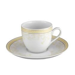Tasse à café 170 ml avec soucoupe Douce Nostalgie en porcelaine
