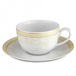 Tasse à thé 200 ml avec soucoupe en porcelaine Douce Nostalgie