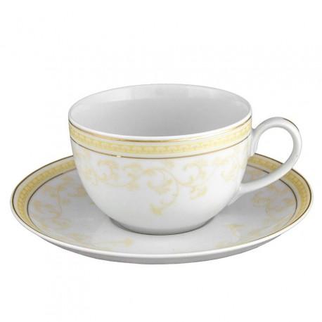 Tasse à thé 250 ml avec soucoupe en porcelaine Douce Nostalgie