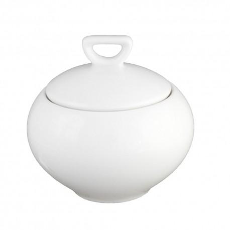 Sucrier 250 ml en porcelaine blanche Révérence Nivéenne, service café porcelaine