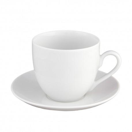 Tasse à café 170 ml avec soucoupe Révérence Nivéenne en porcelaine