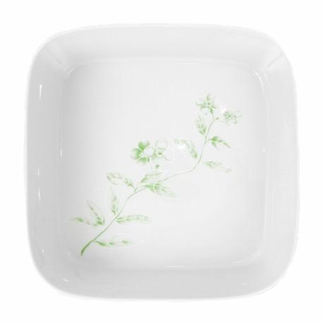 Saladier carré 27,5 cm Solanum en porcelaine