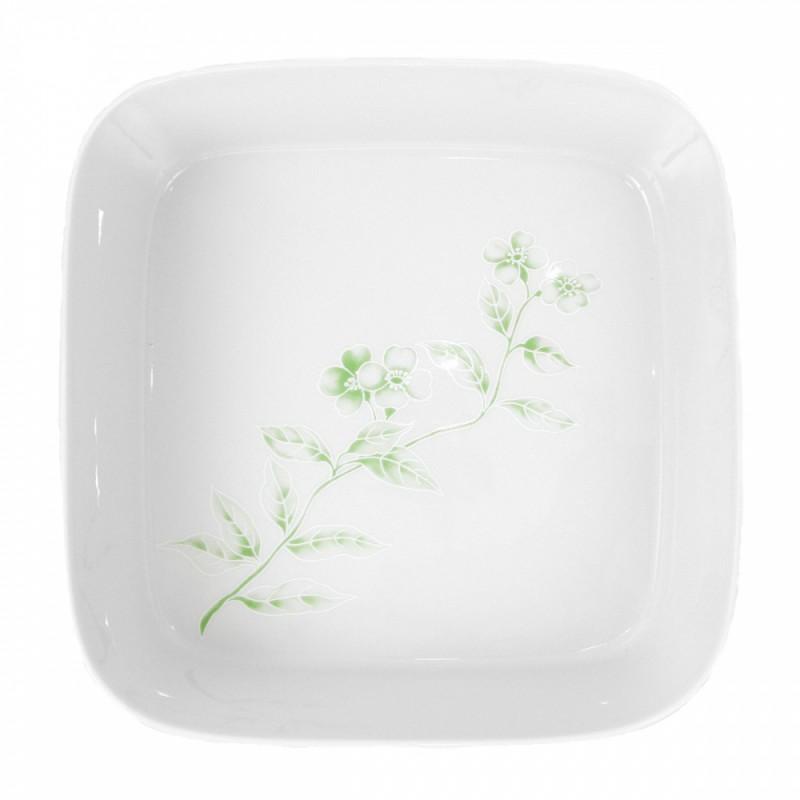 saladier carr 27 5 cm solanum en porcelaine. Black Bedroom Furniture Sets. Home Design Ideas