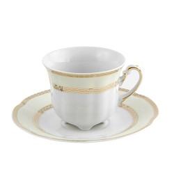 Tasse à haute thé 230 ml avec sa soucoupe Impression Chatoyante