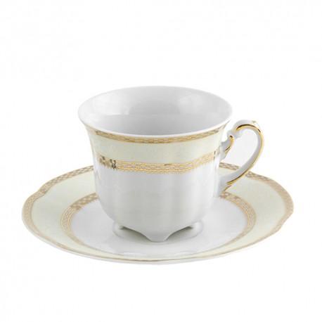 Tasse à haute thé 230 ml avec sa soucoupe Impression Chatoyant