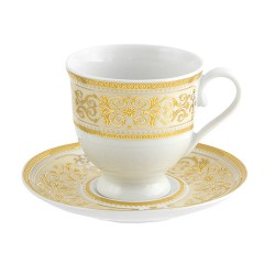 Tasse à thé 220 ml avec soucoupe 14 cm Ruban Impérial en porcelaine