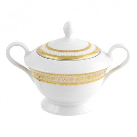 Sucrier élégant en porcelaine de 250 ml Ruban Impérial idéal pour un service à thé complet