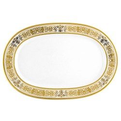 Plat ovale 33 cm Ruban Impérial en porcelaine