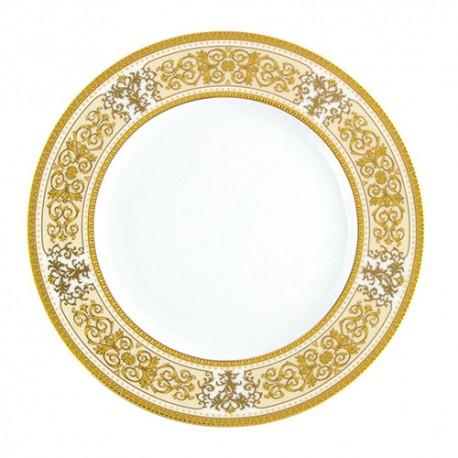 Assiette à aile plate en porcelaine de forme ronde 20 cm Ruban Impérial