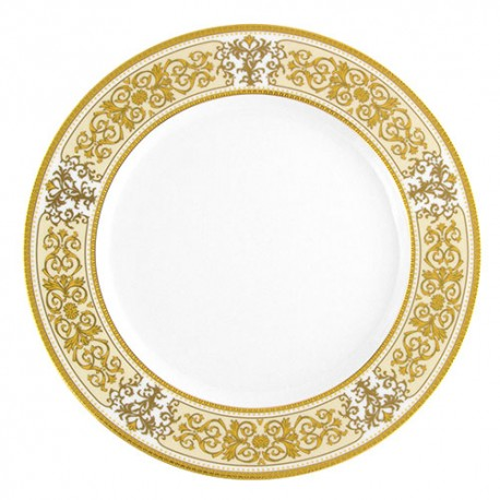 Assiette à aile plate ronde 27 cm Ruban Impérial en porcelaine