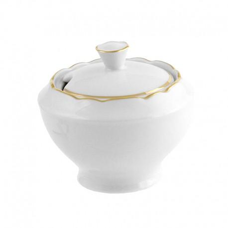 Pot à moutarde 200 ml en porcelaine avec galon or Gracieuse Innocence