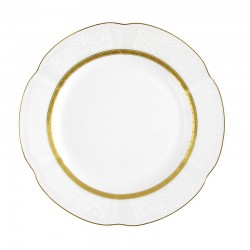 Assiette 19 cm ronde plate en porcelaine - Or Romanesque