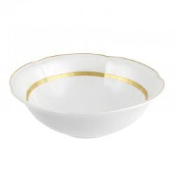 Coupelle 17 cm en porcelaine blanche décorée Or Romanesque