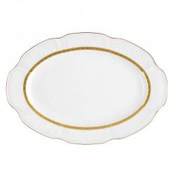 Plat 29 cm ovale en porcelaine - Or Romanesque