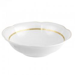 Saladier 26 cm rond en porcelaine Or Romanesque