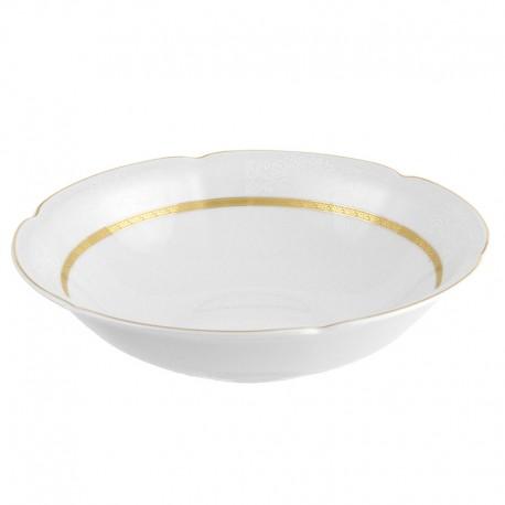 Saladier 23 cm rond en porcelaine Or Romanesque