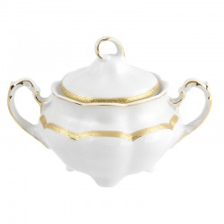 Sucrier 300 ml en porcelaine décorée Or Romanesque