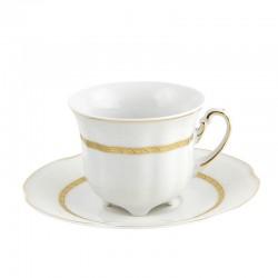 Tasse à thé 230 ml avec sa soucoupe Or Romanesque