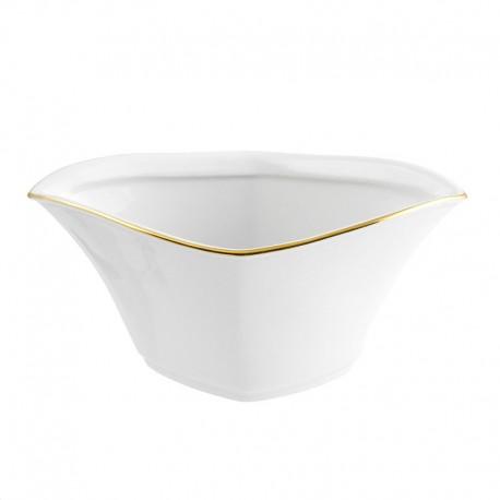 Saucière 500 ml Nuage aux liserés dorés en porcelaine blanche