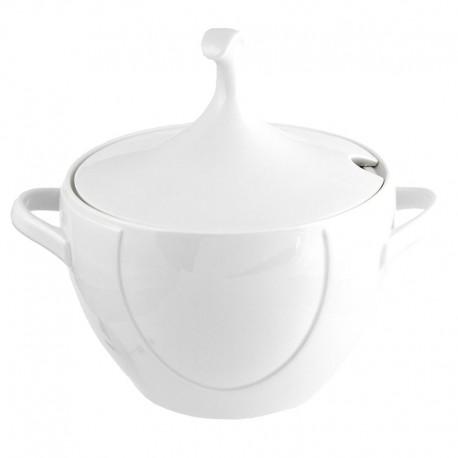 Soupière Lac des Cygnes 3.8 litres en porcelaine blanche